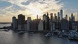 Aerial shot of New York City from Brooklyn