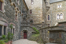 Old, Stone Castle Courtyard Wi...