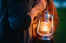Bright Lamp In The Dark Forest