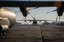 Military Aircraft Fill Kabul A...