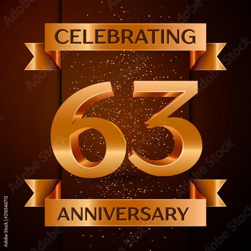 Fotografia  5798538 Realistic Sixty three Years Anniversary Celebration design banner