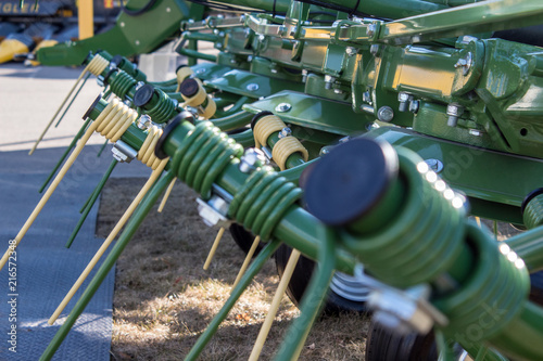 Foto  agricultural machinery close-up
