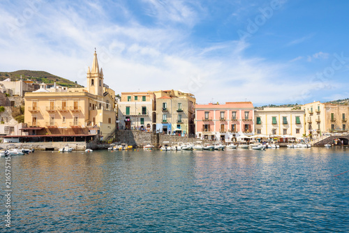 City on the water Lipari town on Aeolian Islands