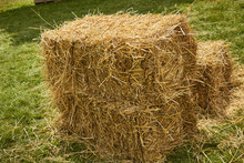 A Square Hay Bale Made From An...