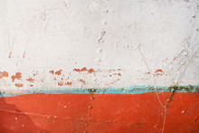 Texture Of An Old Rusty Fishing Boat.