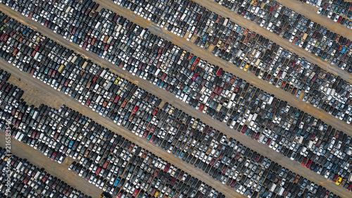 Photo lixo de carros