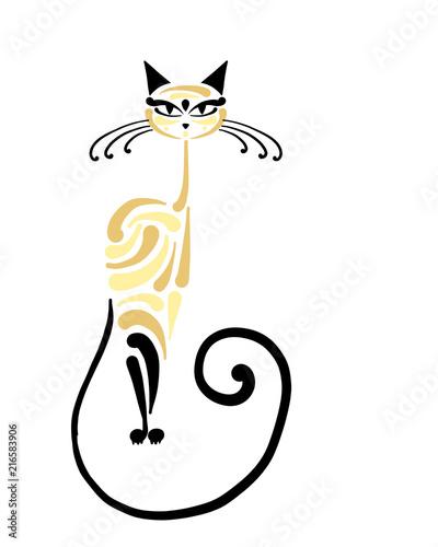 Stampa su Tela Siamese cat design. Vector illustration