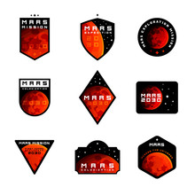 Set Of Space Mission To Mars V...