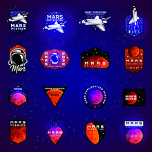 Space Mission To Mars Vector E...