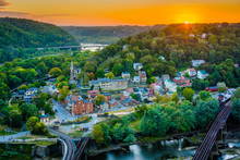 Sunset View Of Harpers Ferry, ...
