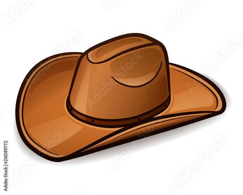 Fototapeta Vector cowboy hat design concept