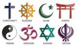 zestaw ikon symbol religii świata