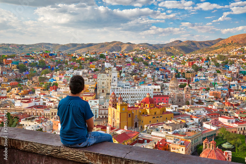 Obraz Guanajuato, scenic city lookout near Pipila - fototapety do salonu
