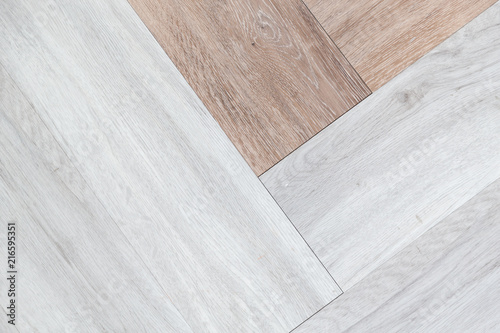 Two Tone Abstract Background White And Brown Wooden Flooring Texture