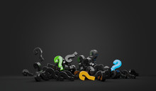 Question Marks 3d-illustration