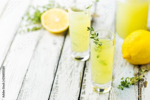 Italian lemon liqueur limoncello