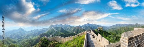 Foto op Plexiglas Historisch geb. Majestic Great Wall of China under the blue sky,panoramic view