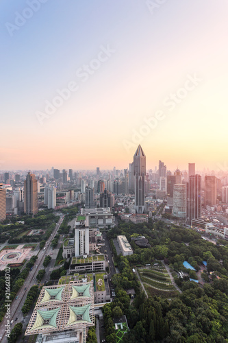 Keuken foto achterwand Amerikaanse Plekken Skyline and cityscape of modern city