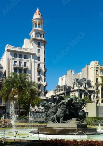 Foto op Plexiglas Europa Juan Pedro Fabini Square. Montevideo, Uruguay