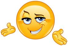 Confident Presenting Emoticon
