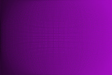 Bright Purple Black Halftone Pattern. Soft Dynamic Lines. Abstract Vector Illustration With Dots. Modern Polka Dots Background