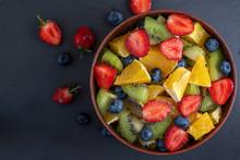 Bowl Of Healthy Fresh Fruit Sa...