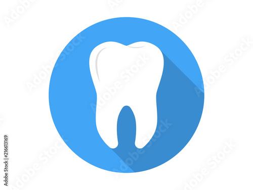 Fotografie, Obraz  Tooth Icon Flat Vector