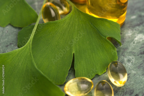 Fotografie, Obraz  ginkgo with essential oil