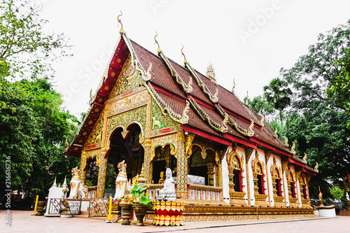 Edifice religieux Wat Phuket, Nan Province, Thailand, most beautiful temples in Nan Province.