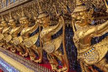 Golden Garuda's In Wat Phra Kaew