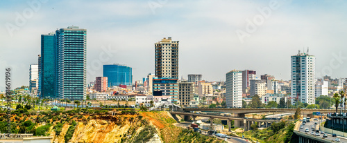 Keuken foto achterwand Historisch geb. Skyline of Oran, a major Algerian city