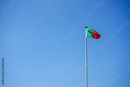 Photo  portugal national flag and blue sky