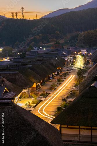 Foto op Plexiglas Asia land Ouchujuku Village sunset Fukushima Japan