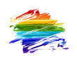 Rainbow watercolor grunge background.