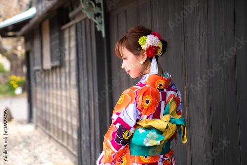 Valokuva 着物の女性