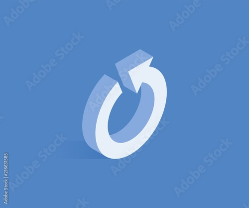 Canvas Refresh isometric icon