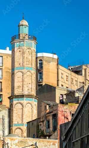 Minaret of the Hassan Pasha Mosque in Oran, Algeria