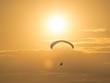 Paragliding at the mountain voloshin at the koktebel crimea