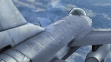 F-16 Fighting Aircraft Jet Green Screen Close Up 3D Rendering Background