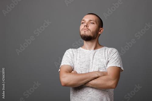 Fototapeta portrait of young proud man