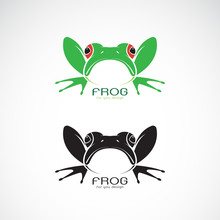 Vector Of Green Frogs And Blac...