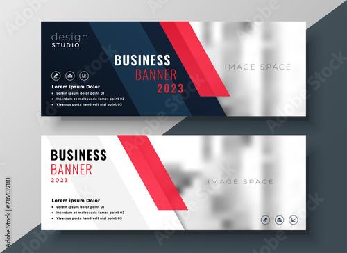 professional corporate business banner design Fototapeta