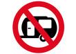Schild Wohnwagen verboten