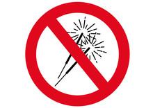 Schild Wunderkerzen Verboten