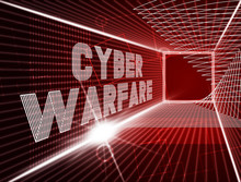 Cyberwarfare Digital Armed Attack Surveillance 3d Illustration
