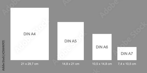 Fototapeta DIN papers - flat vector graphic with transparent background obraz