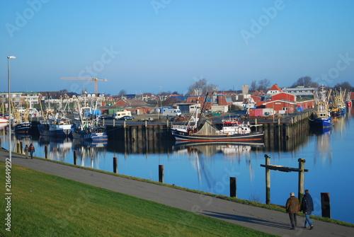 Spoed Foto op Canvas Noordzee geschäftiges Treiben im Hafen