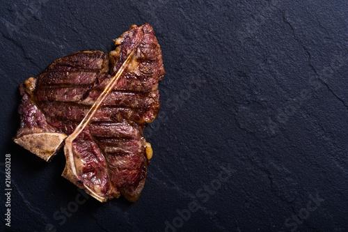 Fotografie, Obraz  Grilled beef porterhouse steak