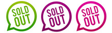 Sold Out - Round Web Buttons. Circle Eps10 Vector.