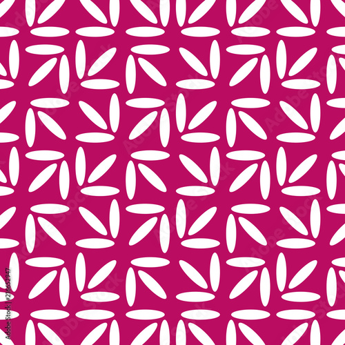 Photo  Geometric Vector Pattern. White and Pink Background.